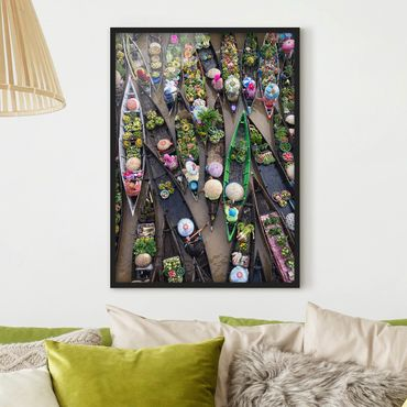 Poster con cornice - Floating Market - Verticale 4:3