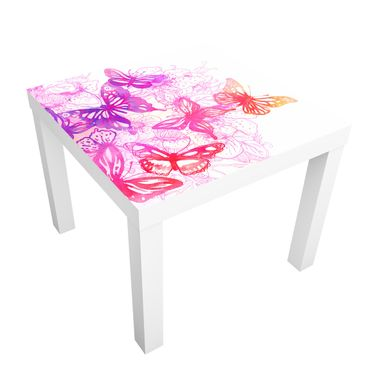 Carta adesiva per mobili IKEA - Lack Tavolino Butterfly Dream