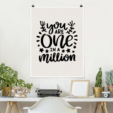 Poster - You Are One In A Million - Verticale 4:3
