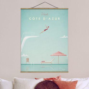 Foto su tessuto da parete con bastone - Poster Viaggi - Côte d'Azur - Verticale 4:3