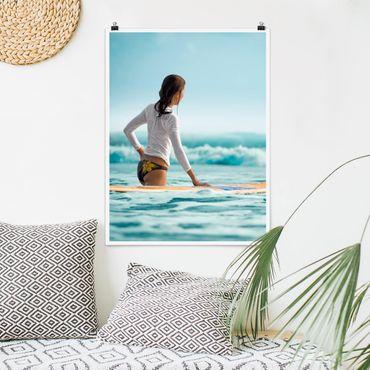 Poster - surfer - Verticale 4:3