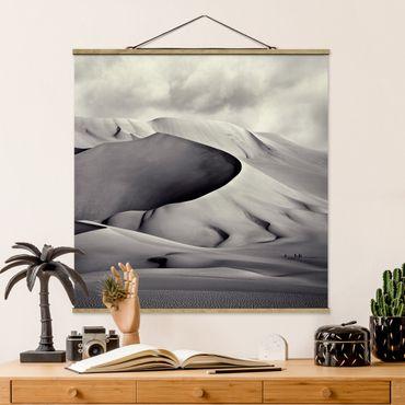 Foto su tessuto da parete con bastone - Nel Sud del Sahara - Quadrato 1:1