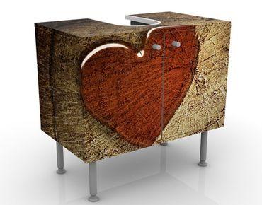 Mobile sottolavabo - Natural Love - Mobile bagno marrone e rosso