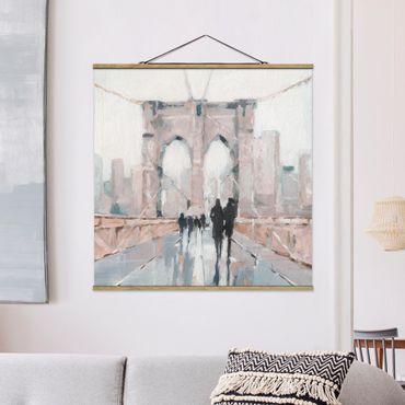 Foto su tessuto da parete con bastone - Walk In The Morning I - Quadrato 1:1