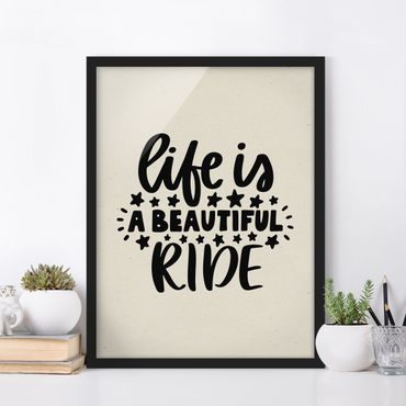 Poster con cornice - A Beautiful Ride - Verticale 4:3