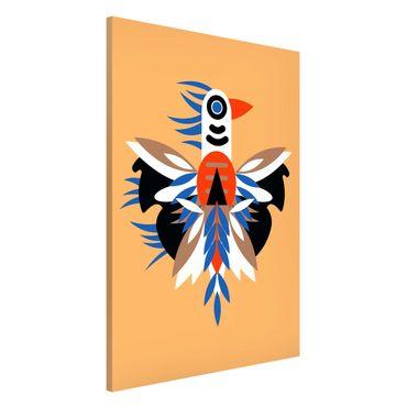Lavagna magnetica - Collage Ethno mostro - Piume - Formato verticale 2:3