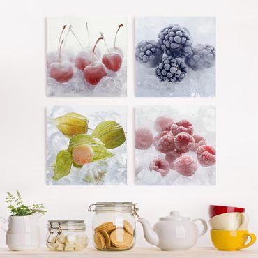 Stampa su tela 4 parti - frozen fruits