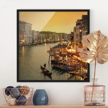 Poster con cornice - Grand Canal Of Venice - Quadrato 1:1