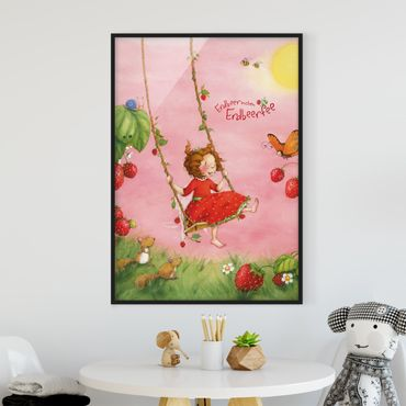 Poster con cornice - The Strawberry Fairy - Tree Swing - Verticale 4:3
