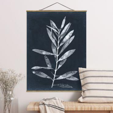 Foto su tessuto da parete con bastone - Ramo su Denim I - Verticale 4:3
