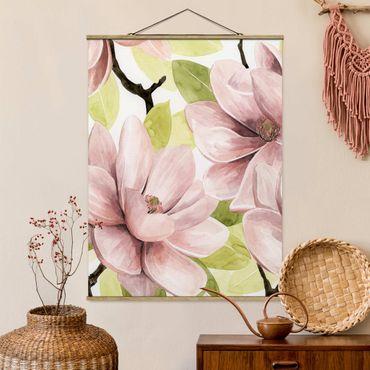 Foto su tessuto da parete con bastone - Magnolia Blush II - Verticale 4:3