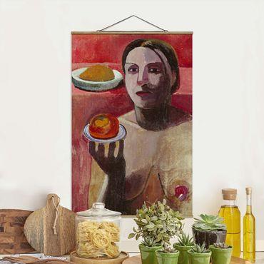 Foto su tessuto da parete con bastone - Paula Modersohn-Becker - Mezza nuda di un italiano - Verticale 3:2