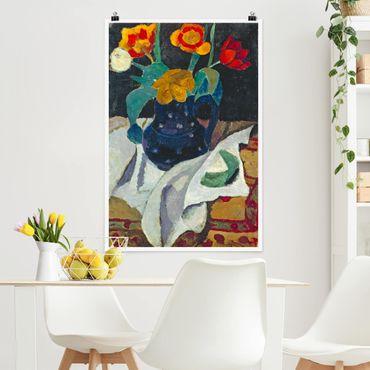 Poster - Paula Modersohn-Becker - Natura morta con tulipani - Verticale 3:2