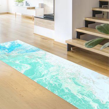 Tappeti in vinile - Effetto marmo tonalità di blu pastello - Pannello