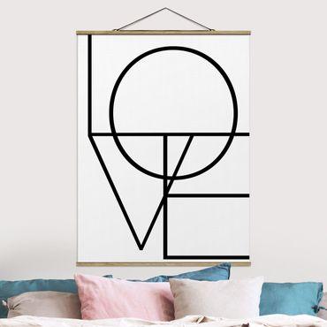 Foto su tessuto da parete con bastone - O L V E - Verticale 4:3