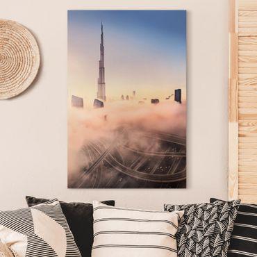 Stampa su tela - Heavenly skyline di Dubai - Verticale 2:3