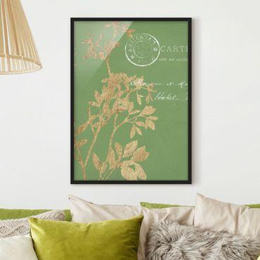 Poster con cornice - Foglie D'Oro Su Lind I - Verticale 4:3