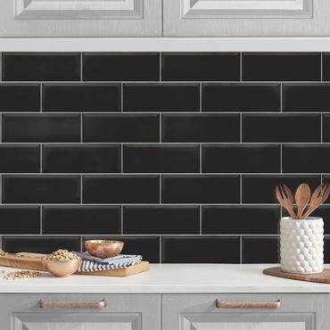 Rivestimento cucina - Mattonelle in ceramica nero