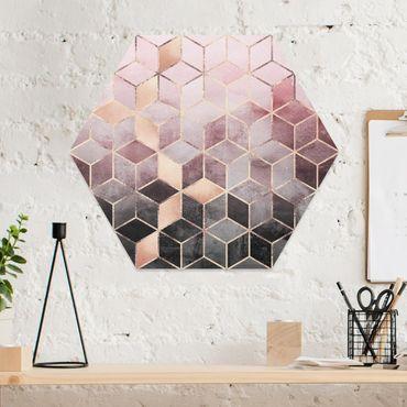 Esagono in forex - Rosa Grigio d'oro Geometria
