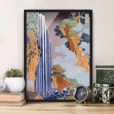 Poster con cornice - Katsushika Hokusai - Ono Waterfall On The Kisokaidô - Verticale 4:3