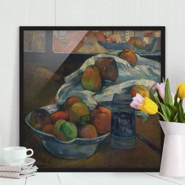 Poster con cornice - Paul Gauguin - Fruit Bowl - Quadrato 1:1
