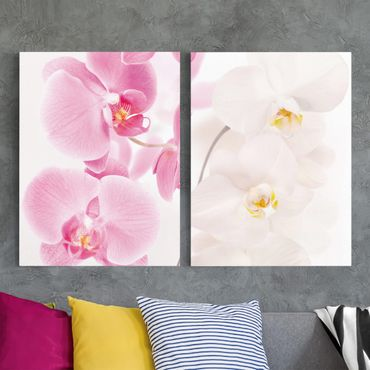 Stampa su tela 2 parti - Delicate Orchids - Verticale 4:3