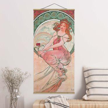 Foto su tessuto da parete con bastone - Alfons Mucha - Quattro arti - Pittura - Verticale 2:1