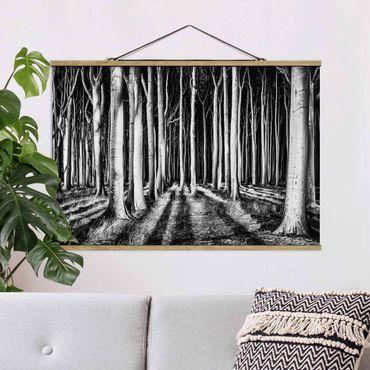 Foto su tessuto da parete con bastone - Spookey Foresta - Orizzontale 2:3