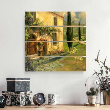 Stampa su legno - Paesaggio Italiano - Cypress - Quadrato 1:1