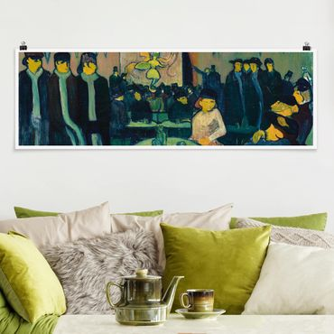 Poster - Emile Bernard - La Tabarin O Cabaret a Parigi - Panorama formato orizzontale