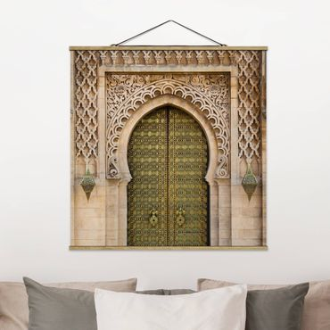 Foto su tessuto da parete con bastone - cancello orientale - Quadrato 1:1