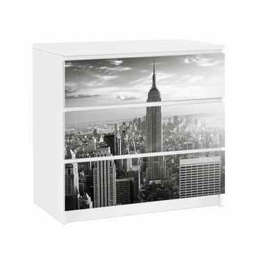 Carta adesiva per mobili IKEA - Malm Cassettiera 3xCassetti - Manhattan Skyline