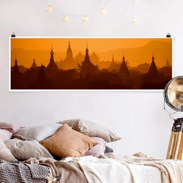 Poster - Temple City in Myanmar - Panorama formato orizzontale