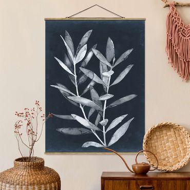Foto su tessuto da parete con bastone - Ramo su Denim II - Verticale 4:3