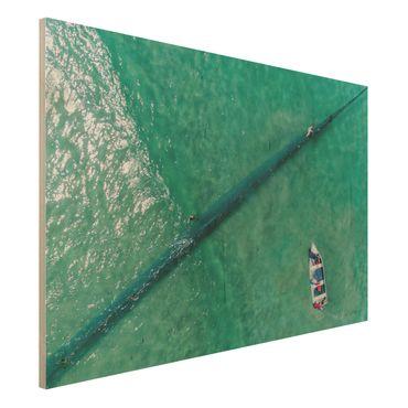 Quadro in legno - Veduta aerea - Pescatori - Orizzontale 3:2