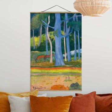 Foto su tessuto da parete con bastone - Paul Gauguin - Paesaggio Foresta - Verticale 3:2