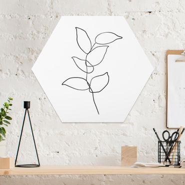 Esagono in forex - Line Art ramo bianco e nero