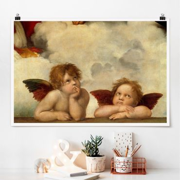 Poster - Raphael - due angeli - Orizzontale 2:3