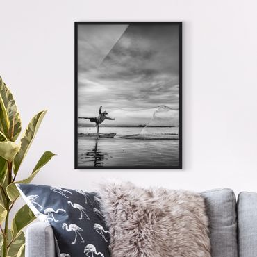 Poster con cornice - Fisherman Casts Net - Verticale 4:3