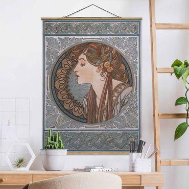 Foto su tessuto da parete con bastone - Alfons Mucha - Helena - Verticale 4:3