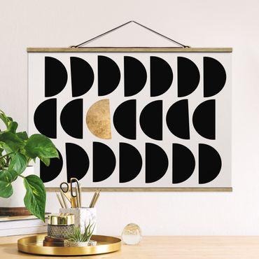 Foto su tessuto da parete con bastone - Semicerchio geometrico II - Orizzontale 2:3