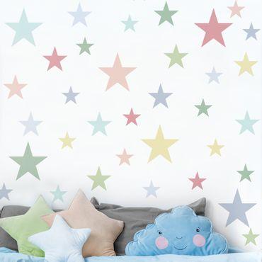 Adesivo murale - 92 Stella Pastel Set