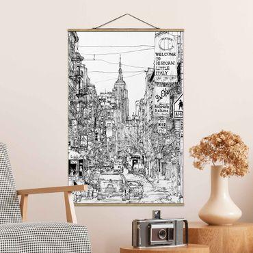 Foto su tessuto da parete con bastone - Città Studi - Piccola Italia - Verticale 3:2