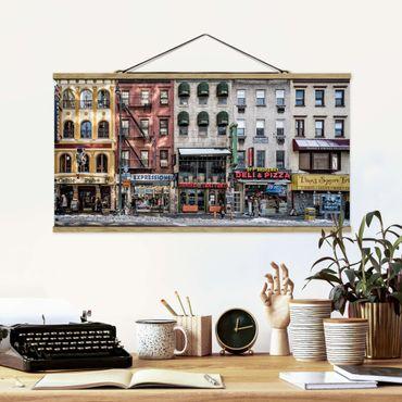 Foto su tessuto da parete con bastone - Cold Day In NY - Orizzontale 1:2
