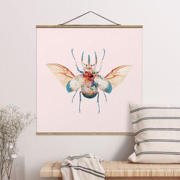 Foto su tessuto da parete con bastone - Vintage Beetle - Quadrato 1:1