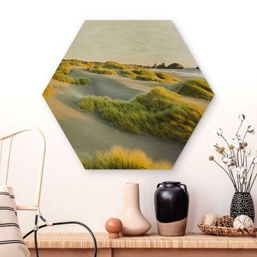 Esagono in legno - Dune ed erbe Al Mare