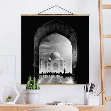 Foto su tessuto da parete con bastone - Il Gateway al Taj Mahal - Quadrato 1:1
