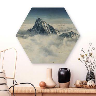 Esagono in legno - Le Alpi Sopra Le Nubi