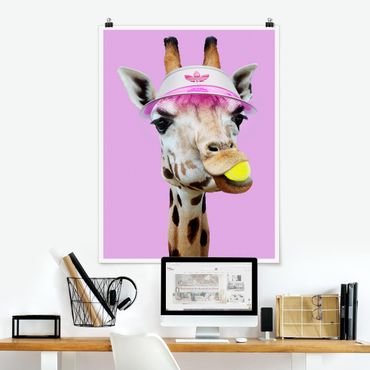 Poster - Giraffa nel tennis - Verticale 4:3