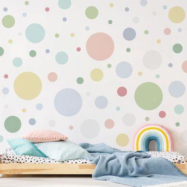 Adesivo murale - Punti Confetti Pastel Set